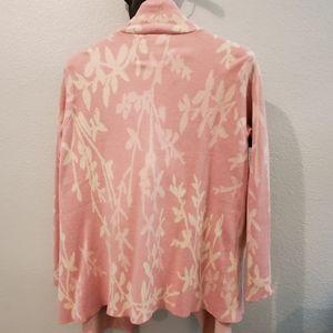 Women's plus size Pink drape cardigan